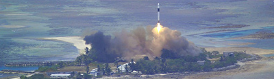 SpaceX launch from Kwajalein